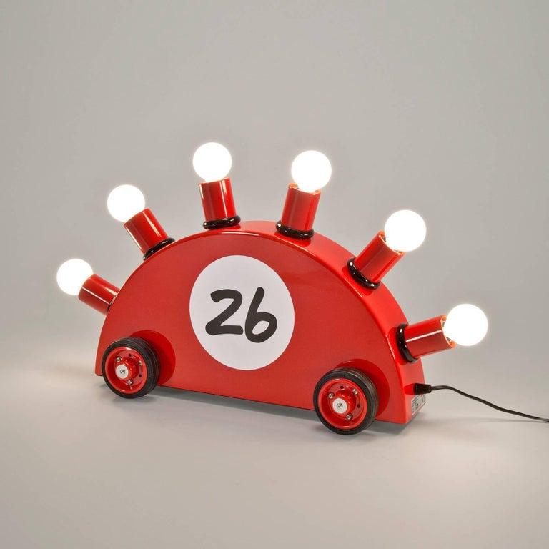 Italian Red Superrari Lamp by Martine Bedin for Memphis Milano For Sale
