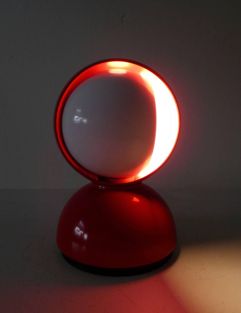 Red table lamp eclisse by vico magistretti for artemide italy 20th century red table lamp eclisse by vico magistretti for artemide italy 1960s for aloadofball Image collections