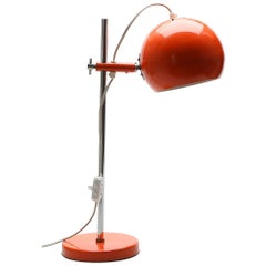 Red Table Lamp from the 1970s