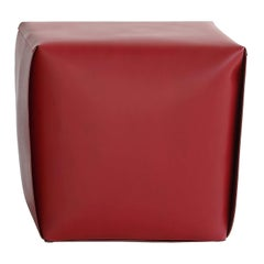 Red Tall Bao Ottoman