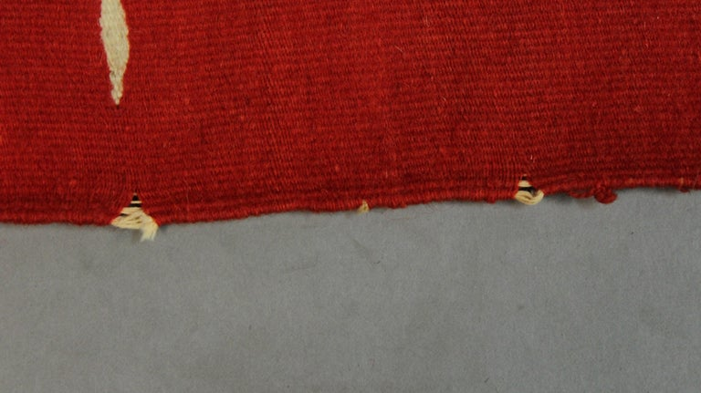Red Texcoco Blanket, circa 1930s For Sale 2