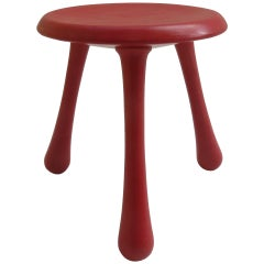 Red Three-Legged Stools by Ingvar Kamprad for Habitat