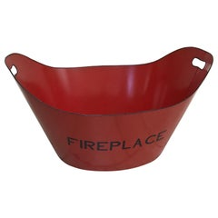 Red Tole Fireplace Log Holder