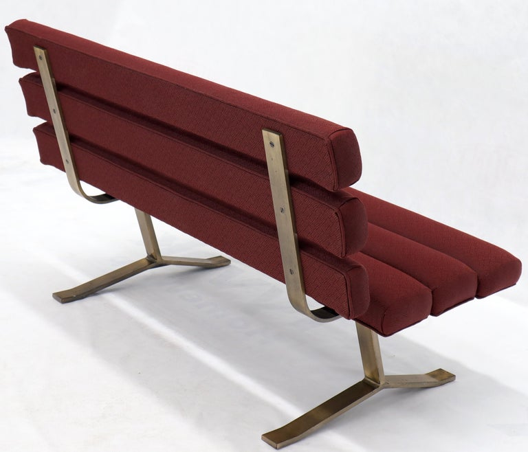 Mid-Century Modern park bench style settee love seat by Gerald McCabe.