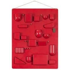Red Uten.Silo Wall Organizer by Dorothee Becker