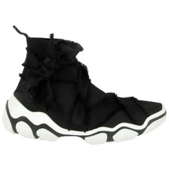 RED VALENTINO black GLAM RUN ULTRA SOCK High-Top Sneakers Shoes 40