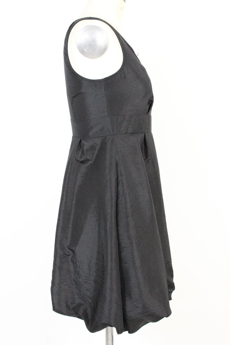 Red Valentino Black Jersey Evening Balloon Sheath Dress 2000s NWT In New Condition For Sale In Brindisi, Bt