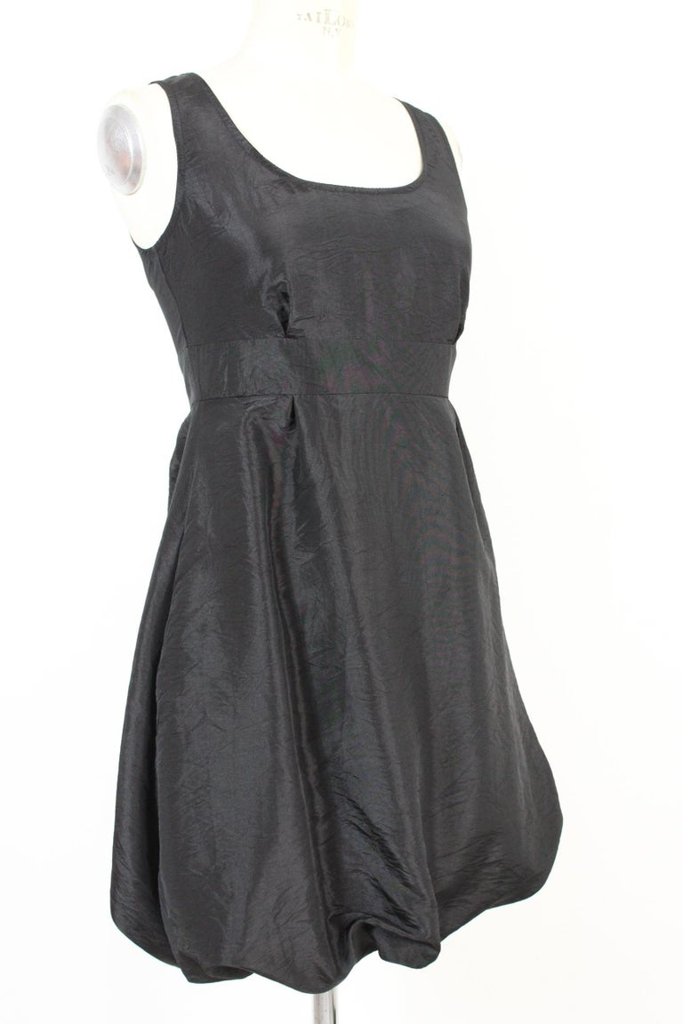 Women's Red Valentino Black Jersey Evening Balloon Sheath Dress 2000s NWT For Sale