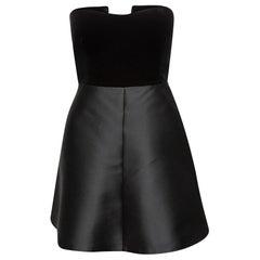 Red Valentino Black Strapless A-Line Dress