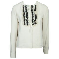 Red Valentino Ivory w/ Black and Ivory Lace - 42