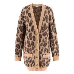 Red Valentino Leopard Print Knit Cardigan XS