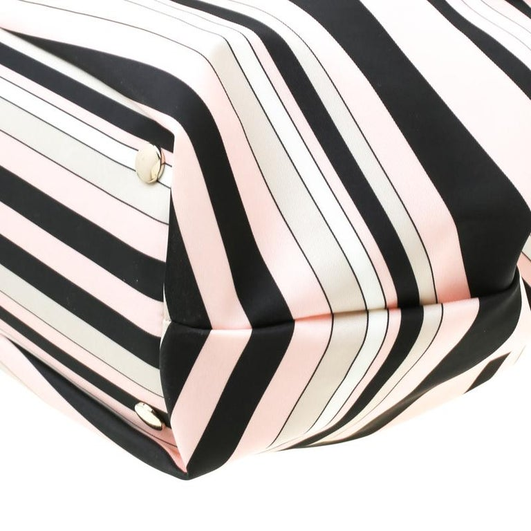 RED Valentino Multicolor Striped Bow Fabric Frame Satchel For Sale 5