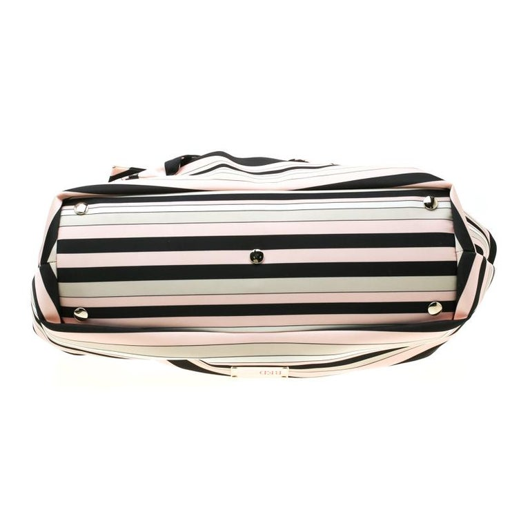 Women's RED Valentino Multicolor Striped Bow Fabric Frame Satchel For Sale