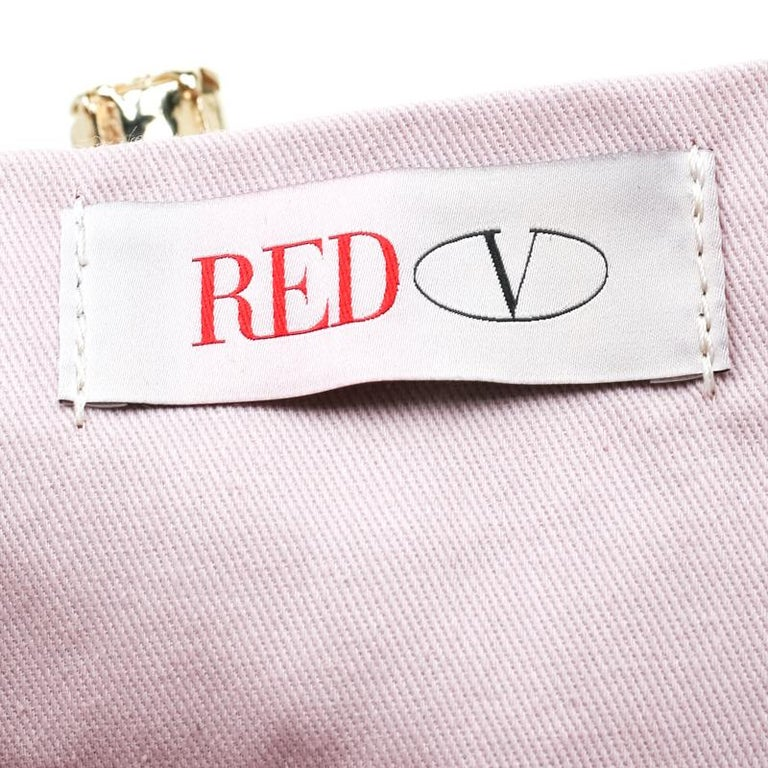 RED Valentino Multicolor Striped Bow Fabric Frame Satchel For Sale 2