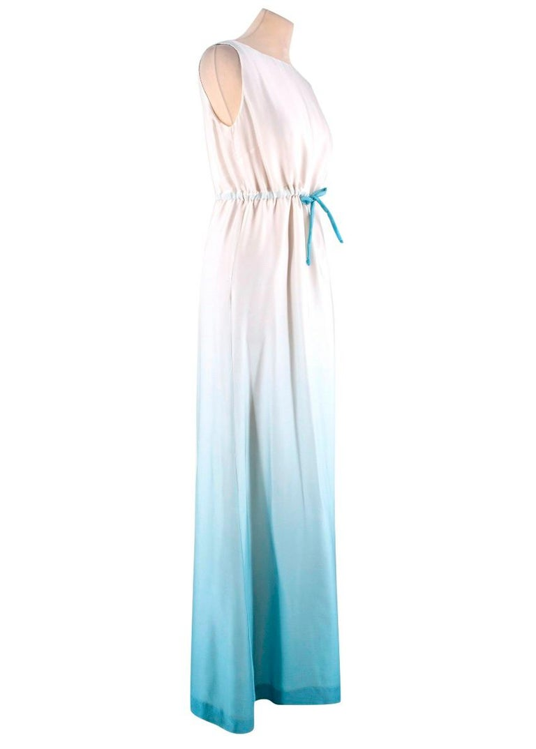 f69ea16a11c Red Valentino Ombre Silk Gown - Pure silk - Maxi length - Ombre blue   off