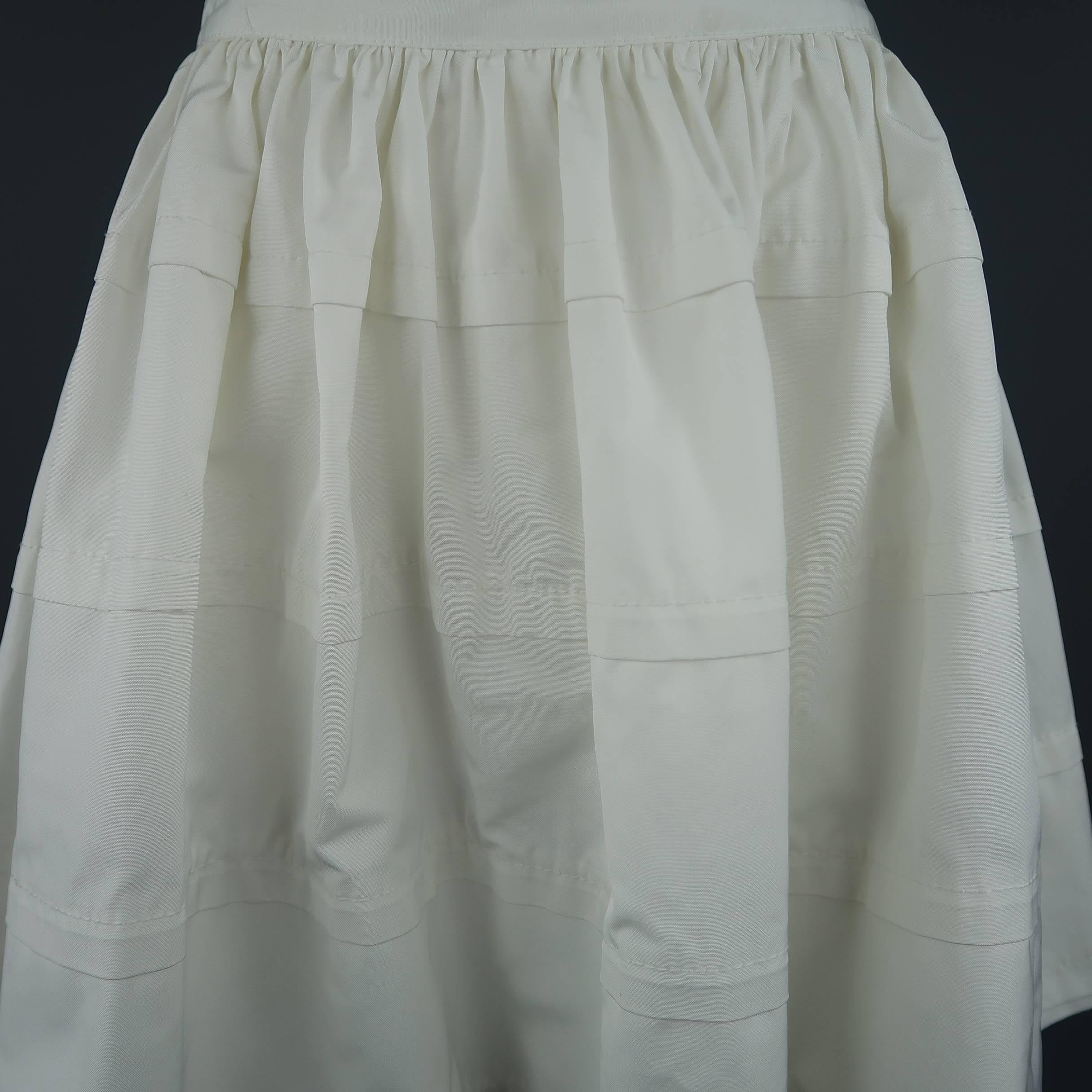 5a70b6bc1f5a REDValentino White Cotton Blend Canvas Gathered Circle Mini Skirt For Sale  at 1stdibs