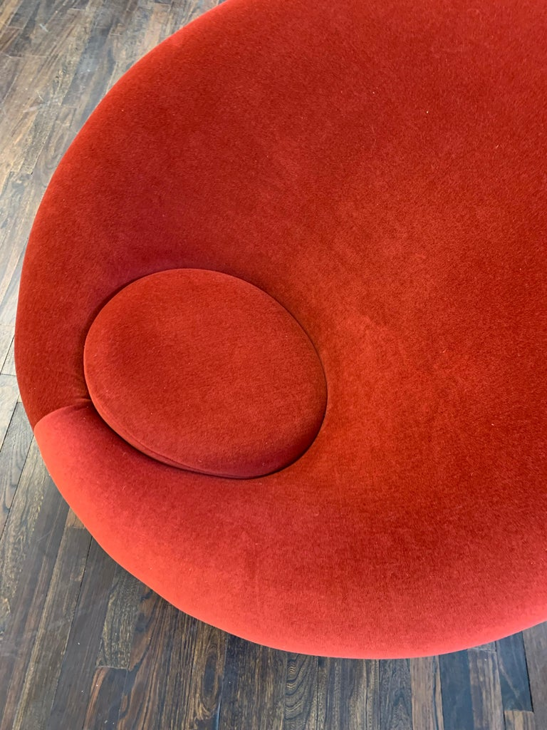 Dutch Red Velvet Artifort Big Mushroom Lounge Chair by Pierre Paulin For Sale
