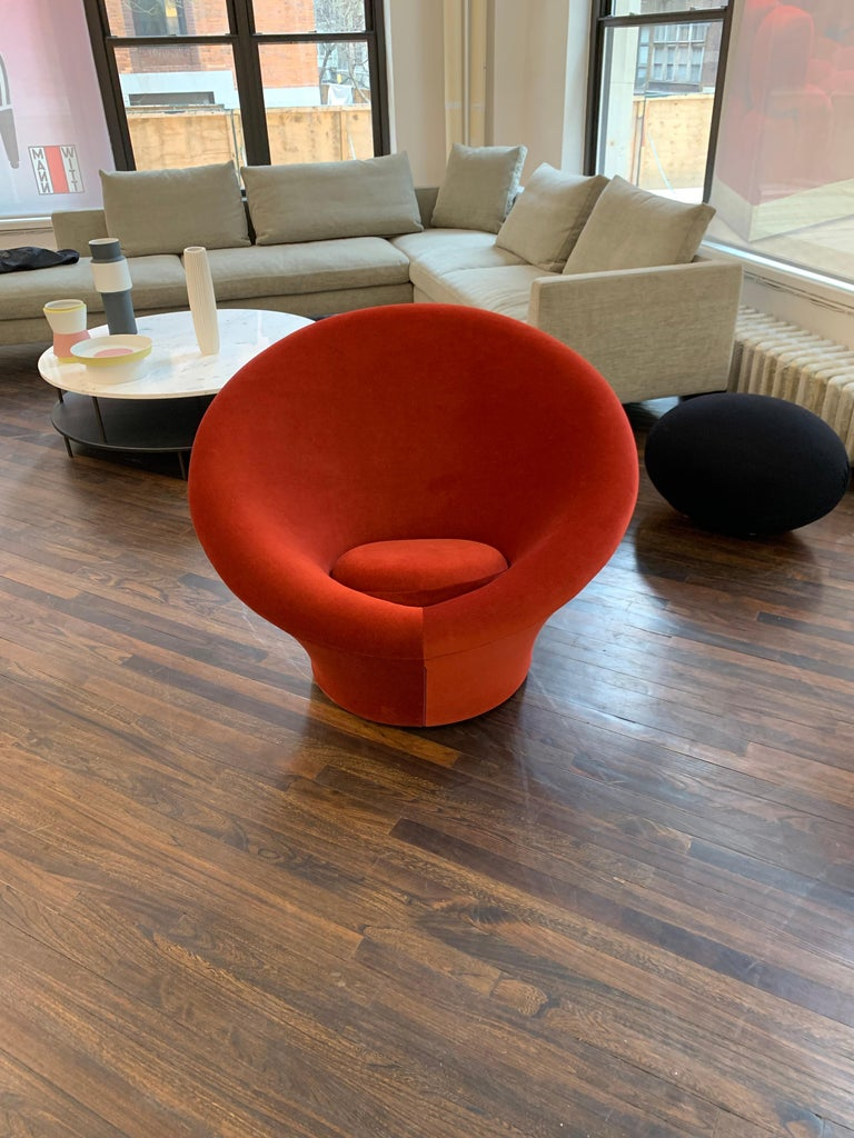 Contemporary Red Velvet Artifort Big Mushroom Lounge Chair by Pierre Paulin For Sale