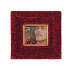 Red Velvet Gauffrage Decorative Picture Frame