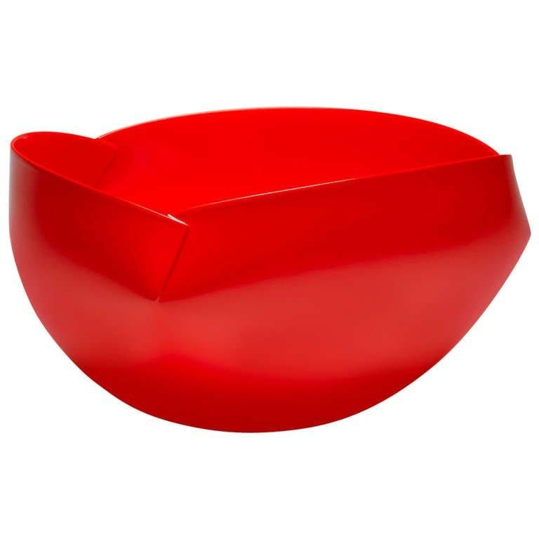 Modern Red Vessel by Ann Van Hoey In Excellent Condition For Sale In New York, NY