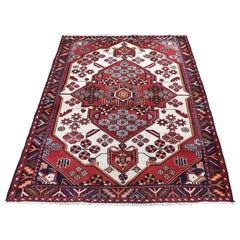 Red Vintage Bohimian Persian Mosel Pure Wool Hand Knotted Oriental Rug