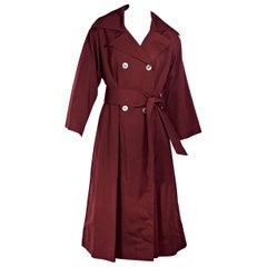 Red Vintage Chloe Gabardine Trench Coat