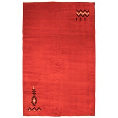 Red Vintage French Deco Rug