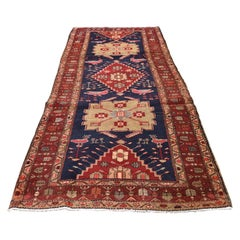 Red Vintage North West Persian with Peacocks & Birds Wide Runner Hand Knotted Or