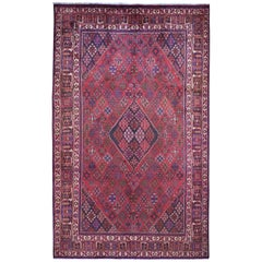 Red Vintage Persian Joshagan Full Pile Hand Knotted Oriental Rug