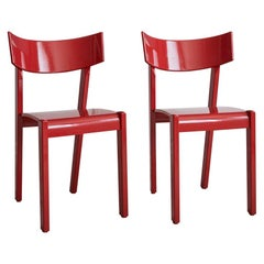 Red Vintage Ralf Lindberg Dining Chairs