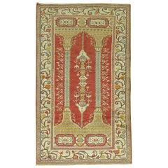 Red Vintage Turkish Prayer Rug