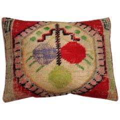Red VIntage Turkish Rug Pillow