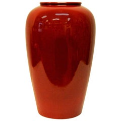 Red Vintage Vase by Scheurich 1970s, W. Germany