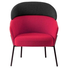 Red Wam Lounge Chair by Marco Zito, Made in Italy