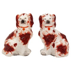 Red & White Staffordshire Dogs