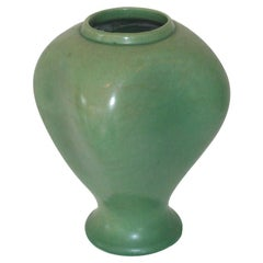 Red Wing Green Ceramic Vase