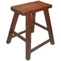 Red Wood Stool