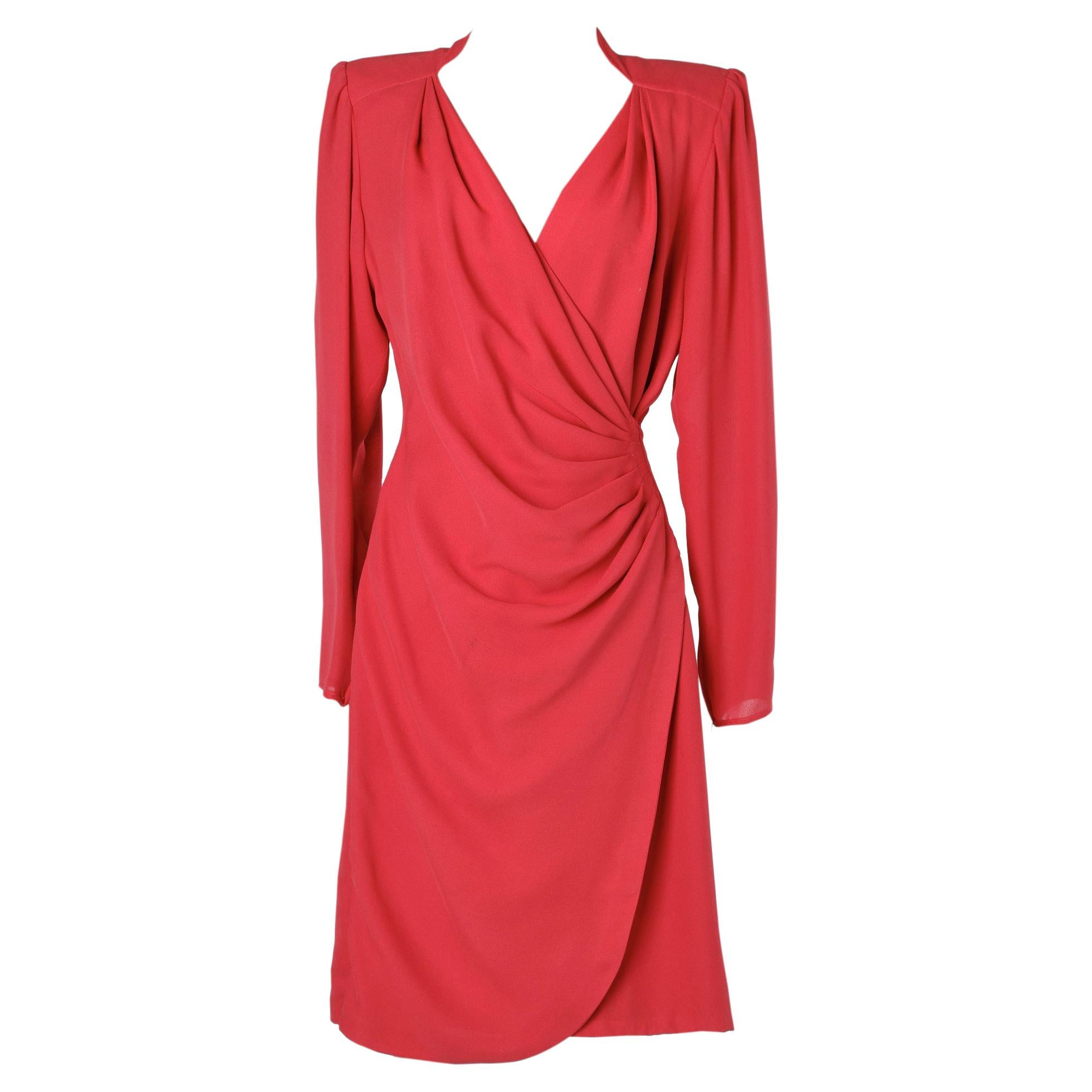 Red Wrap dress Ungaro Parallèle