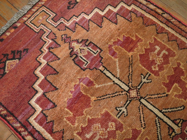 Reddish Brown Vintage Anatolian Runner In Good Condition For Sale In New York, NY