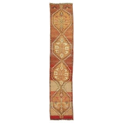 Reddish Brown Vintage Anatolian Runner
