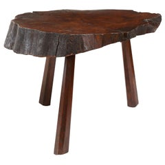 Reddish-Brown Vintage Tree Trunk Coffee Table
