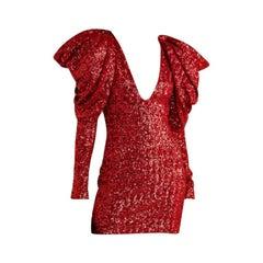 Redemption Draped Sequined Chiffon Mini Dress - Size US 8