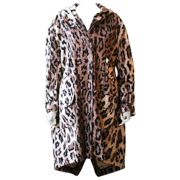 Redemption Sequin-Embellished Leopard-Print Faux-Fur Parka For Sale