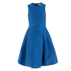 REDValentino Blue Heart-cloque A-line Dress IT 38