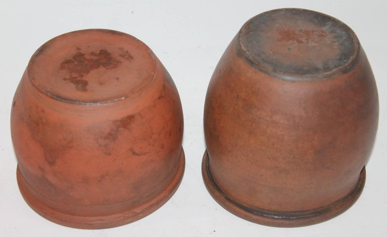 Pottery Redware Pennsylvania 19th Century Crocks, Two Pieces For Sale