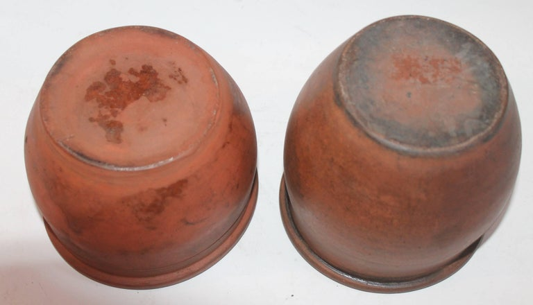 Redware Pennsylvania 19th Century Crocks, Two Pieces For Sale 1