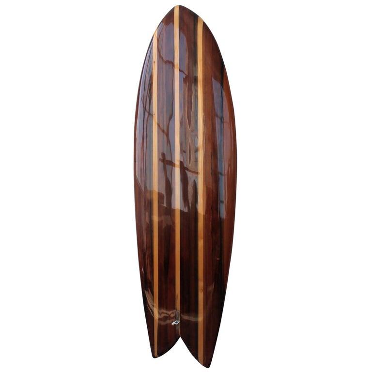 Twin Keel Surfboard in Redwood in Stock For Sale