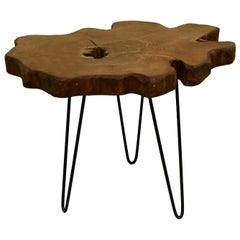 Redwood Tree Live Edge Coffee Table with Hairpin Legs / LECT143