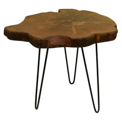 Redwood Tree Live Edge Coffee Table with Hairpin Legs / LECT144