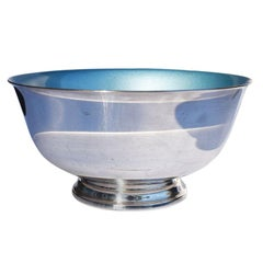 Reed and Barton Silver and Cerulean Blue Paul Revere Liberty Serving Bowl, 1945